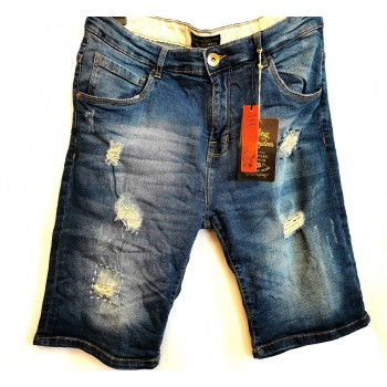 Bermuda jeans Rotture